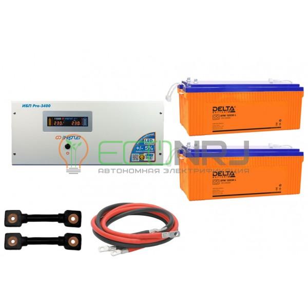 Инвертор (ИБП) Энергия PRO-3400 + Аккумуляторная батарея Delta DTM 12230 L