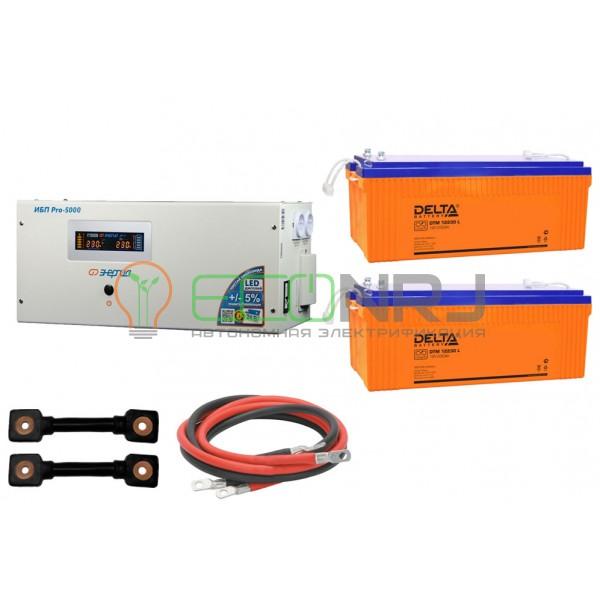Инвертор (ИБП) Энергия PRO-5000 + Аккумуляторная батарея Delta DTM 12230 L