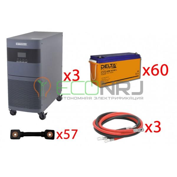 Инвертор (ИБП) Stark Country 30000 Online, 12А + АКБ Delta DTM 12150 L х60