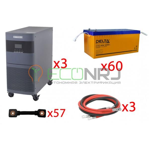 Инвертор (ИБП) Stark Country 30000 Online, 12А + АКБ Delta DTM 12200 L х60