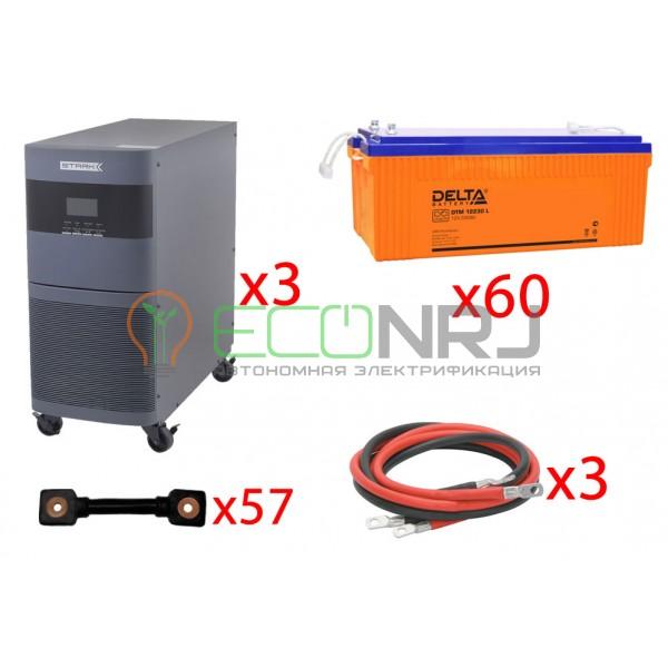 Инвертор (ИБП) Stark Country 18000 Online, 12А + АКБ Delta DTM 12230 L х60