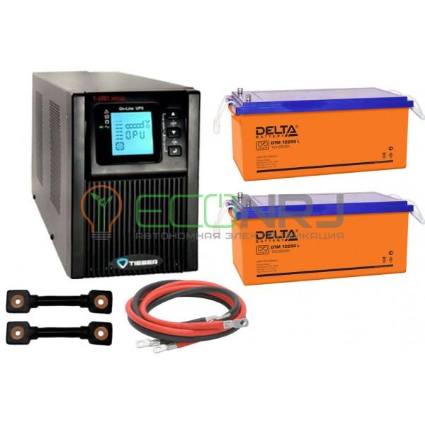Инвертор (ИБП) Tieber T-1000 + Акумуляторная батарея Delta DTM 12250 L