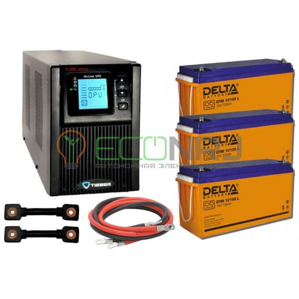 Инвертор (ИБП) Tieber T-1001 + Акумуляторная батарея Delta DTM 12150 L