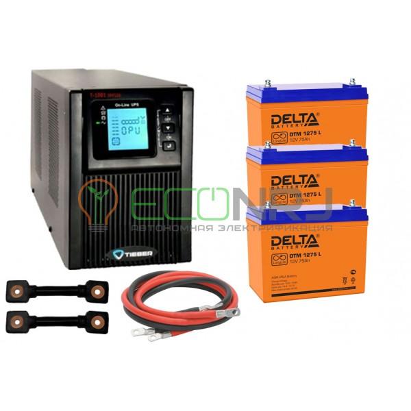 Инвертор (ИБП) Tieber T-1001 + Акумуляторная батарея Delta DTM 1275 L