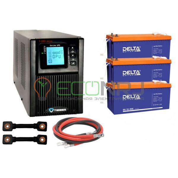 Инвертор (ИБП) Tieber T-1001 + Акумуляторная батарея Delta GX 12230