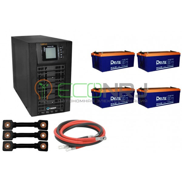 Инвертор (ИБП) Tieber T-2000 + Акумуляторная батарея Delta GX 12230