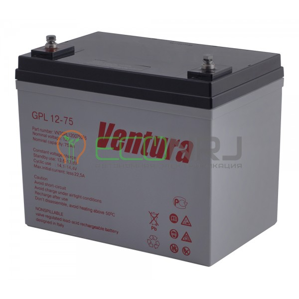 Аккумуляторная батарея Ventura GPL 12-75